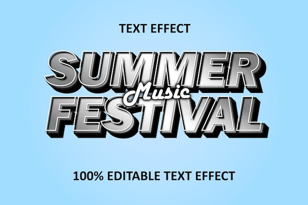 Editable text effect strong silver