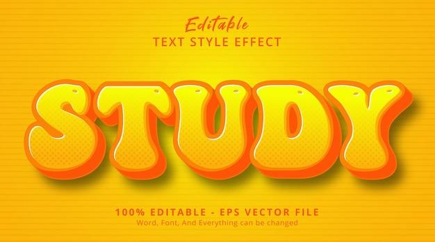 편집 가능한 텍스트 효과, 헤드라인 만화 스타일 효과에 대한 연구 텍스트