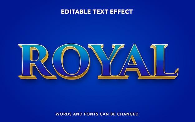 왕실을위한 편집 가능한 텍스트 효과 스타일
