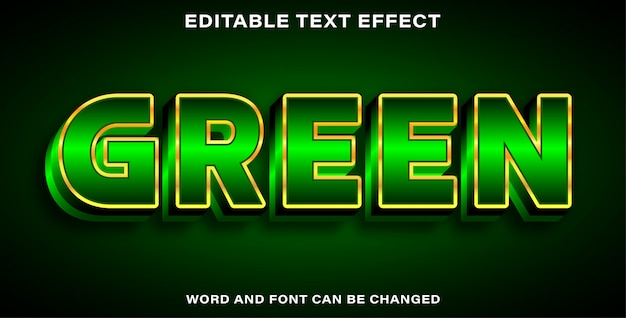 Editable text effect style green