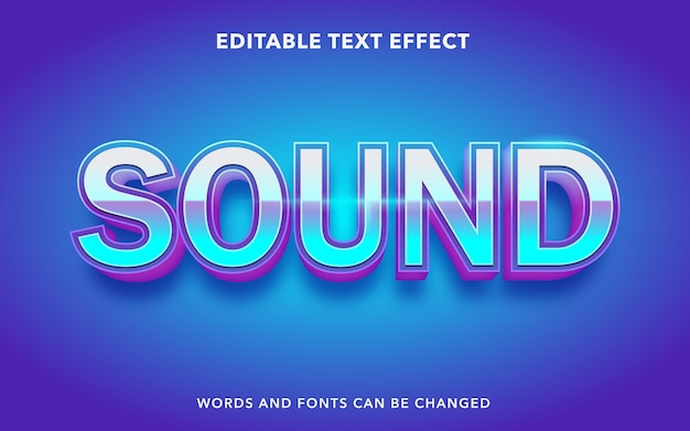 Editable text effect style for sound