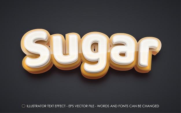 Editable text effect sugar style illustrations