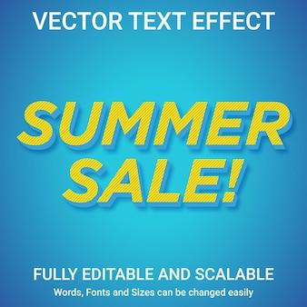 Редактируемый текстовый эффект - стиль текста летняя распродажа
