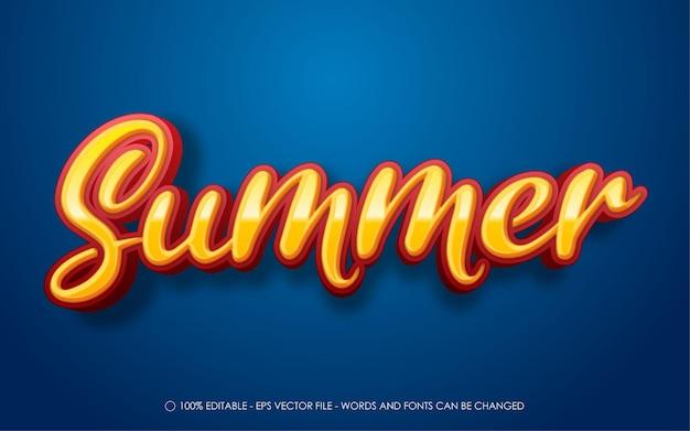 Editable text effect, summer style