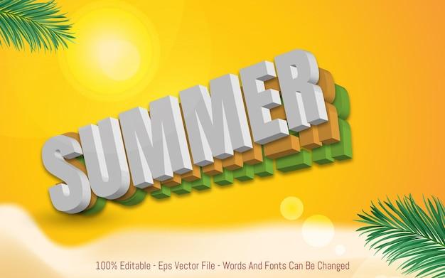 Editable text effect summer
