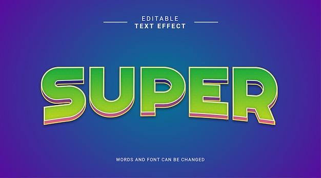Редактируемый текстовый эффект супер жирный с зеленым градиентом синего фона
