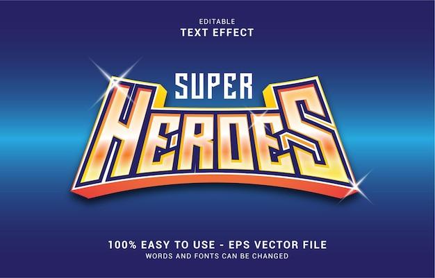 編集可能なテキスト効果、スーパーヒーロースタイルを使用してタイトルを作成できます
