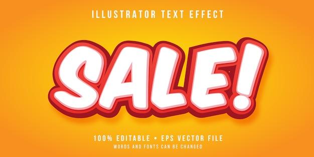 Editable text effect - super sale style
