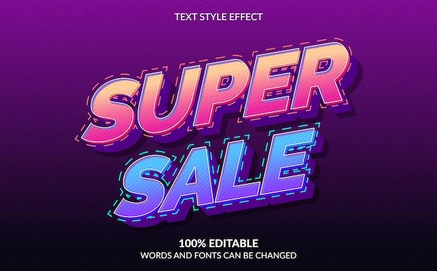 편집 가능한 텍스트 효과, 슈퍼 세일 텍스트 스타일
