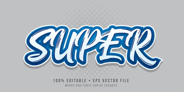 Editable text effect super text style