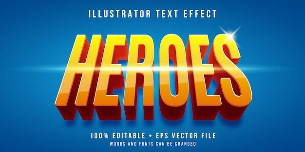 Editable text effect - superhero style