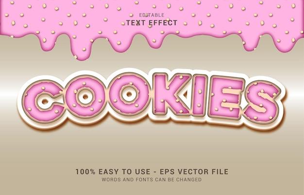 編集可能なテキスト効果、sweet pinkcookiesスタイルを使用してタイトルを作成できます