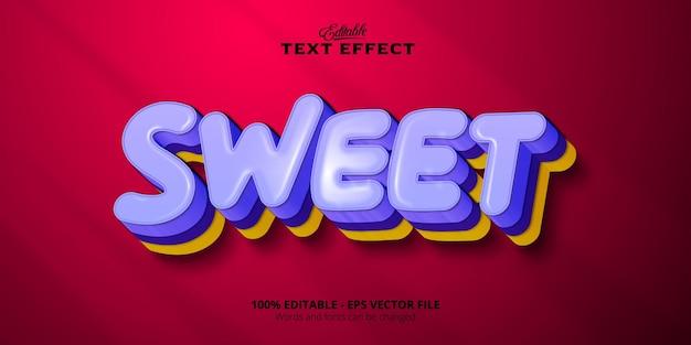 Editable text effect, sweet text