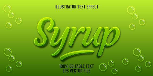 Editable text effect syrup