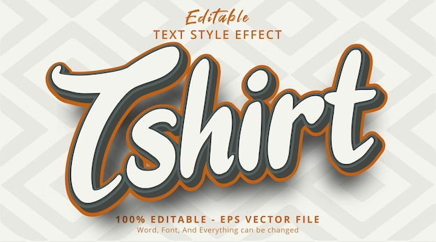 Editable text effect, t-shirt text on popular color style effect