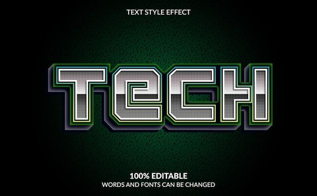Editable text effect, tech text style