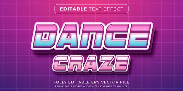 Editable text effect in techno modern style