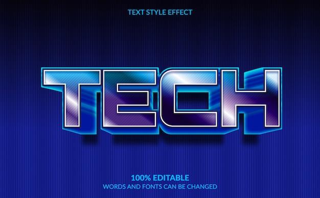 Редактируемый текстовый эффект, технологический стиль текста