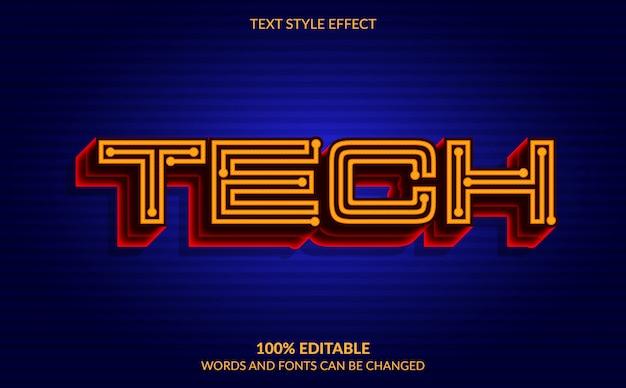 Editable text effect, technology text style