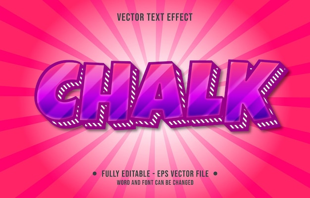 Editable text effect template bold purple and red gradient color modern style