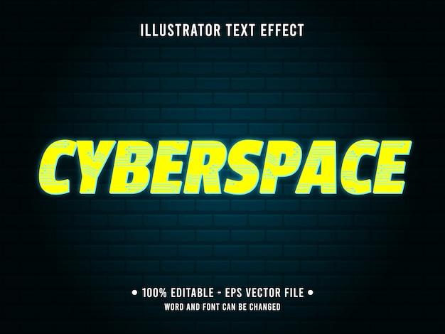 편집 가능한 텍스트 효과 템플릿 밝은 노란색 사이버 스타일