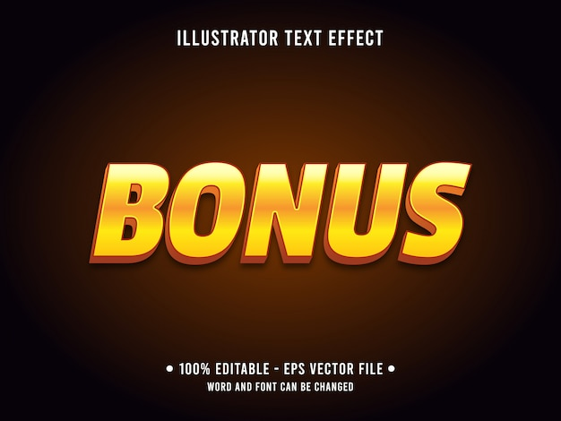 Editable text effect template golden bonus prize style