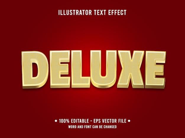 Редактируемый текстовый эффект шаблон золотой роскошный стиль