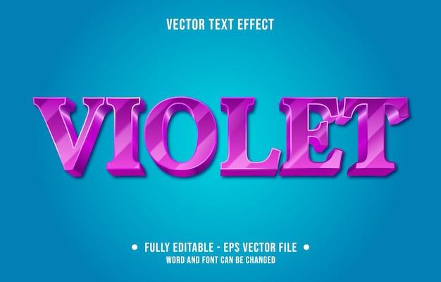 Editable text effect template purple violet gradient color modern style
