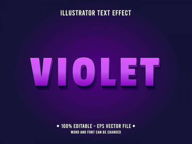 Editable text effect template purple violet style