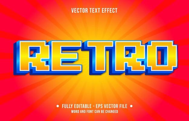 Редактируемый шаблон текстового эффекта в стиле ретро градиент цвета премиум