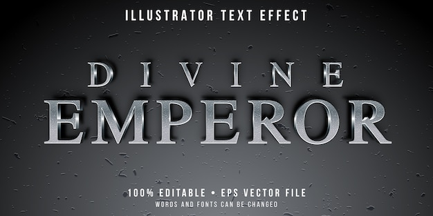 Editable text effect - textured silver text style