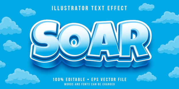 Editable text effect - thick cartoon style