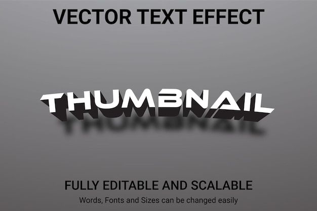 Редактируемый текстовый эффект - стиль текста thumbnail