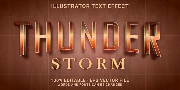 Редактируемый текстовый эффект - стиль thunder strom