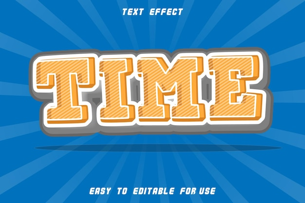 Editable text effect time