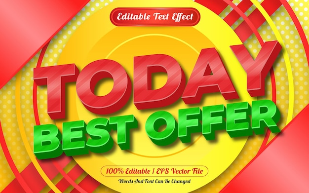 Editable text effect today best offer template style