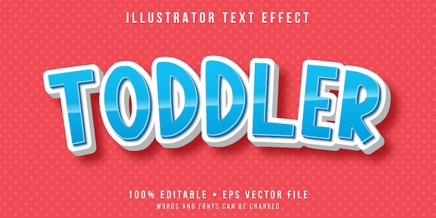 Editable text effect - toddler text style