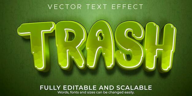 Редактируемый текстовый эффект, стиль текста мусор, мусор