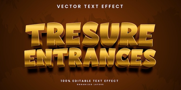 Editable text effect in treasure entrance style