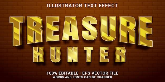 Редактируемый текстовый эффект - стиль сокровища