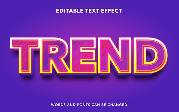 Editable text effect for trend