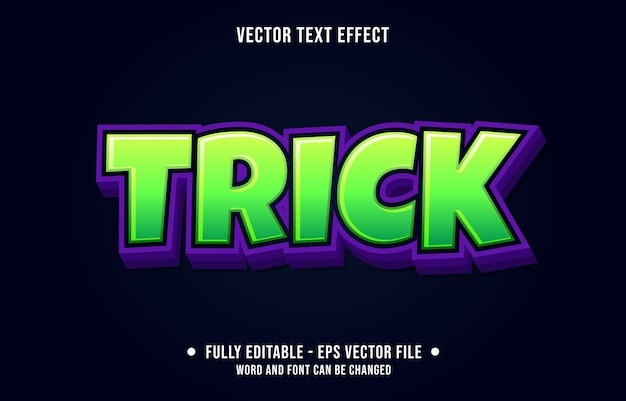 Editable text effect trick green modern style