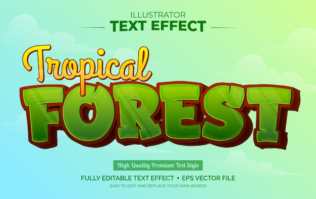 Editable text effect - tropical forest text effect