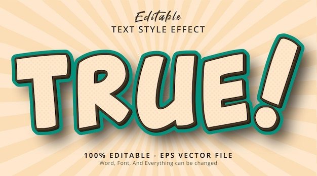 Editable text effect, true! text on headline banner style effect