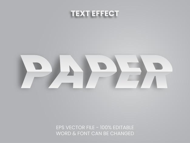 Редактируемый текстовый эффект векторной бумаги тема складной текстовый эффект стиль