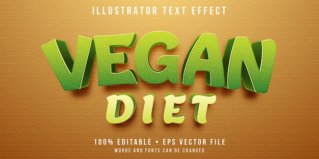 Editable text effect - vegan style