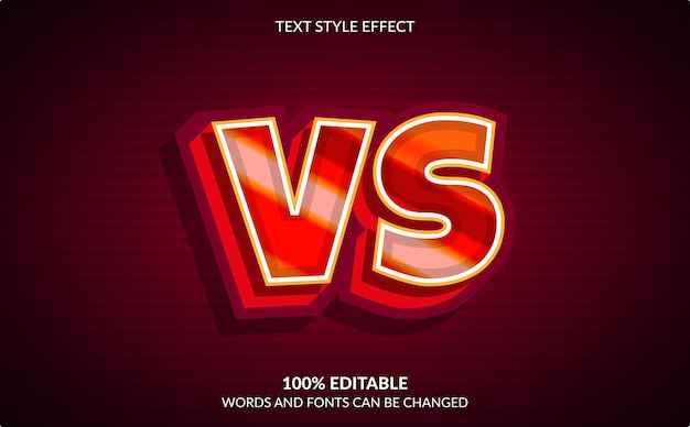 Editable text effect, versus text style