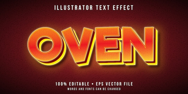 Editable text effect - very hot oven style