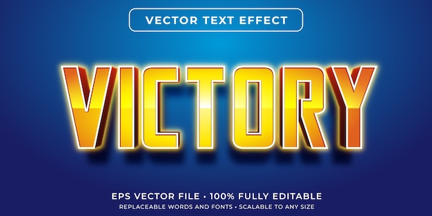 Editable text effect in victorious text style
