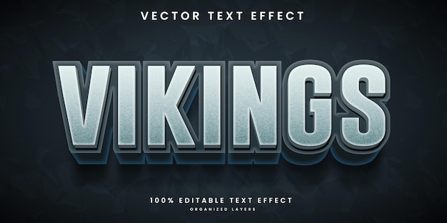 Editable text effect in vikings style